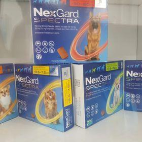 Thuốc trị ve ghẻ bọ chét demodex tẩy giun cho chó - Nexgard Spectra cho chó 2-35kg giá sỉ