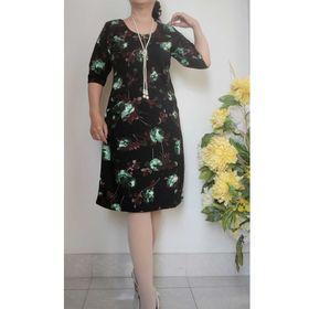 Đầm Suông Tay Lửng Hoa Xanh 3 D - ĐỦ SIZE 48KG - 85KG giá sỉ