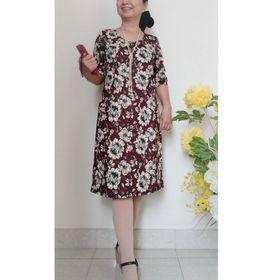 Đầm Dáng Suông Tay Lửng Chất Liệu Vải Thun Cát Hàn có co giãn giá sỉ