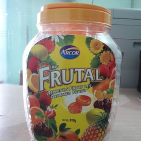 Kẹo cứng Arcor Rellenos Frutales 810gr - Hũ Nhựa giá sỉ