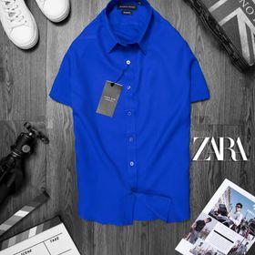 áo somi ngắn tay nam màu xanh dương giá sỉ