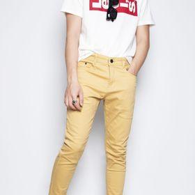Quần dài kaki nam may theo form quần jean màu vàng bò giá sỉ