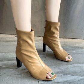 Giày bot da mềm hở mũi giá sỉ