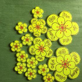 Bộ 14 bông hoa mai xốp trang trí tết giá sỉ