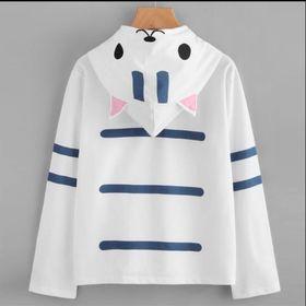 Áo hoodie nữ tay thùng đầu mèo giá sỉ
