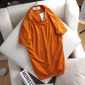áo thun nam trơn 100 cotton màu cam giá sỉ