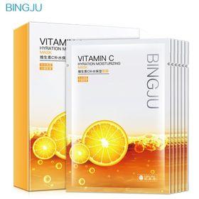 Mặt nạ dưỡng trắng da Bingju chiết xuất cam tươi cũng cấp vitamin C giúp da căng mọng trắng hồng giá sỉ