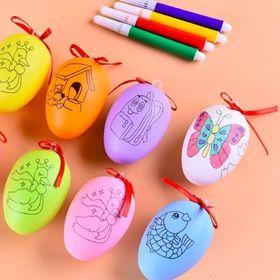 trứng tô màu và 4 bút giá sỉ