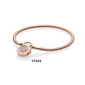 Vòng tay khóa rời rose gold VT044 giá sỉ