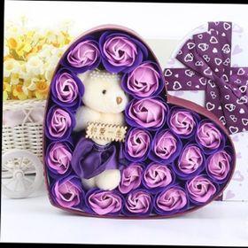 Hộp hoa hồng sáp trái tim giá sỉ