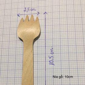 Nĩa gỗ 105mm dùng 1 lần giá sỉ