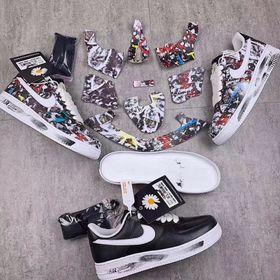 giày sneaker hoa cúc GD tróc sơn giá sỉ