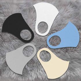 Khẩu trang vải Poli 2 da kháng khuẩn có 5 màu đen xanh trắng cam và xám giá sỉ