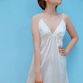 Đầm ngủ phi lụa trắng