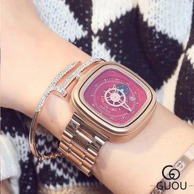 Đồng hồ nữ GUOU 8150 dây sắt giá sỉ