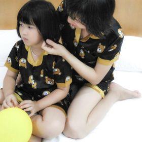 Pijama lụa cao cấp cho mẹ và bé