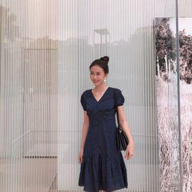 Đầm tơ lụa nhật chất liệu mềm mịn, bay dáng mát rượi giá sỉ