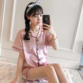 Bộ pijama quần đùi áo cộc vải phi bóng size 40-60kg