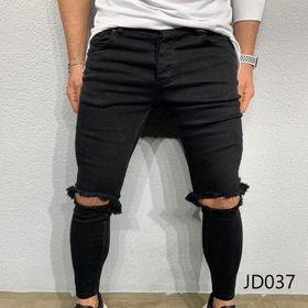 Quần Jean Dài Nam Was Rách Co Dãn JD037
