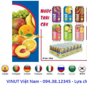 Cần tìm Đối Tác, Đại Lý phân phối các sản phẩm Nước Ép Trái Cây VINUT giá sỉ