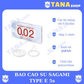 Bao cao su Sagami 0.02 hộp 2 cái giá sỉ