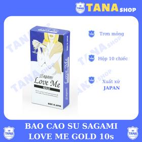 Bao cao su Sagami Love me gold - hôp 10 cái giá sỉ