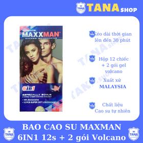 Bao cao su kéo dài thời gian Maxman 12s - cái tặng 2 gói kem bôi kéo dài thời gian giá sỉ