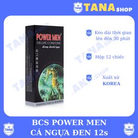 Bao cao su Power Men Cá Ngựa đen 12s giá sỉ