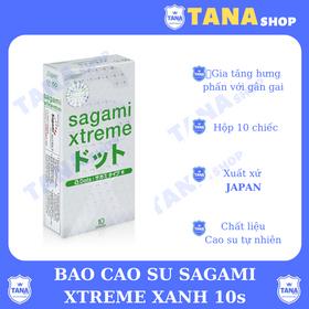 Bao cao su Sagami Xtreme xanh 10s - hộp 10 cái giá sỉ