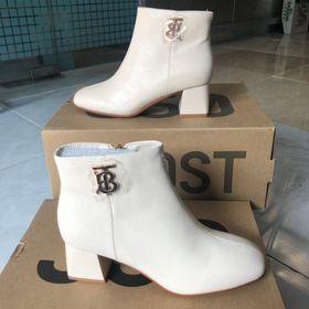 Giày boot cao gót cc - trắng Nữ giá sỉ