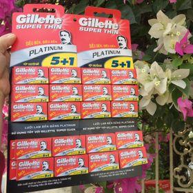 bộ 5 hộp lưỡi lam Gillette giá sỉ