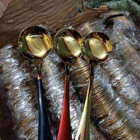 Thìa mạ vàng bộ 5 cái giá sỉ