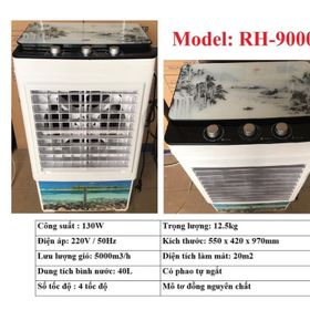 QUẠT HƠI NƯỚC 40L Model RH-9000 MÔ TƠ 100% ĐỒNG NGUYÊN CHẤT giá sỉ