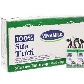 Sữa tươi Đàn bò Vinamilk 100% có đường 110 ml x 48 hộp giá sỉ