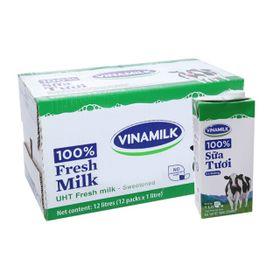 Sữa tươi tiệt trùng Vinamilk 100% có đường 1 lít Thùng 12 hộp giá sỉ