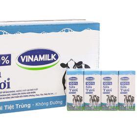 Sữa tươi Đàn bò Vinamilk 100% không đường 180 ml x 48 hộp giá sỉ