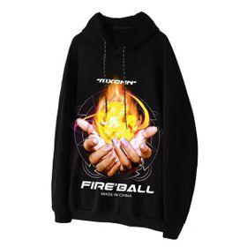 Áo hoodie nỉ in bàn tay lửa FIRGALL sale hè giá sỉ