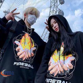 Áo hoodie nỉ in bàn tay lửa FIRGALL sale hè giá sỉ, giá bán buôn giá sỉ