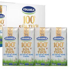 Sữa tươi Đàn bò Vinamilk 100% ít đường 180 ml x 48 hộp giá sỉ