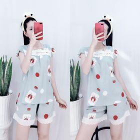 Đồ Ngủ Nữ Lụa Tole Quần Đùi Mặc Nhà Pijama Mát Mịn Xinh giá sỉ