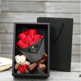 Hoa hồng sáp thơm hộp 7 bông cao cấp (tặng kèm thiệp) giá sỉ