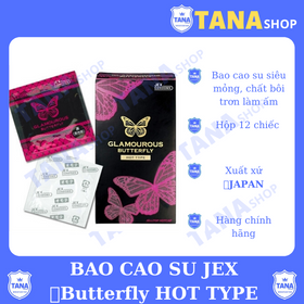 Bao cao su nóng ấm jex glamourous butterfly hot giá sỉ