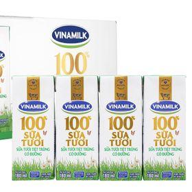 Sữa tươi Đàn bò Vinamilk 100% có đường hộp 180 ml giá sỉ