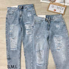 Quần Jean baggy rách S M L giá sỉ