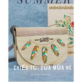 Túi xách gỗ handmade, trẻ trung. Túi của mùa hè vẫy gọi. giá sỉ