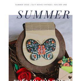 Túi xách gỗ handmade cánh bướm giá sỉ