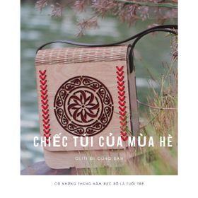 Túi xách gỗ phong thổ cẩm. giá sỉ