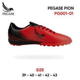 Giày Đá Bóng Đinh Nhỏ Dành Cho Sân Cỏ Nhân Tạo PEGASE PION MÀU ĐỎ ĐEN (PG001-01) giá sỉ