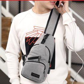 Túi đeo chéo nam tích hợp cáp sạc siêu tiện lợi giá sỉ