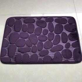 Thảm chùi chân 3d cao cấp mẫu sỏi nhô siêu thấm hút, có lớp chống trượt giá sỉ